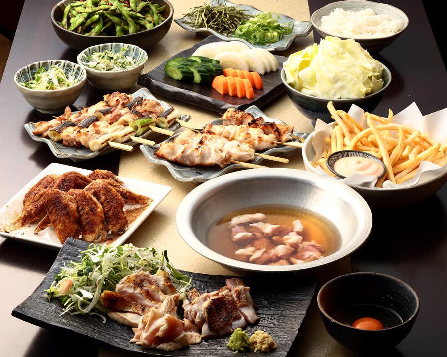 とりいちず酒場 目黒店の鶏料理を満喫できる〈食べ放題×飲み放題コース〉