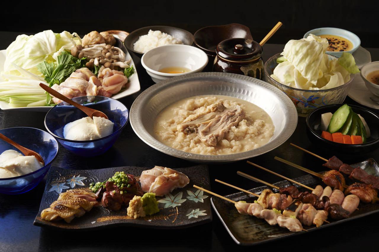とりいちず酒場 目黒店の鶏料理が満喫できるコース